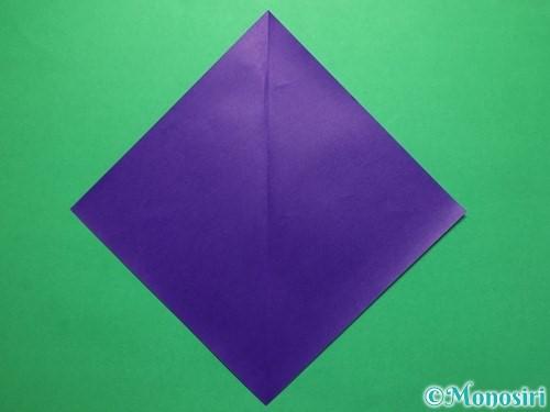 折り紙で平面のコマの作り方手順2
