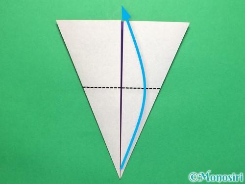 折り紙で平面のコマの作り方手順15