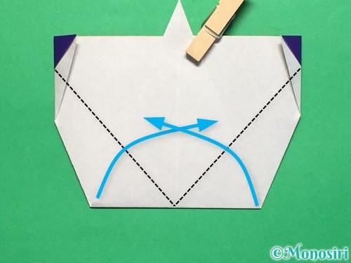折り紙で平面のコマの作り方手順19