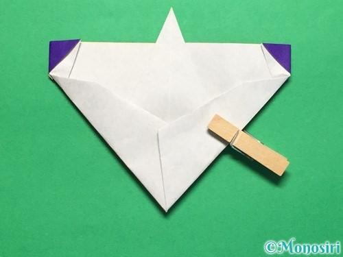 折り紙で平面のコマの作り方手順20