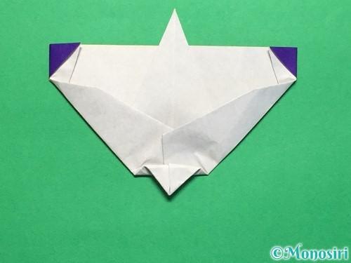 折り紙で平面のコマの作り方手順24