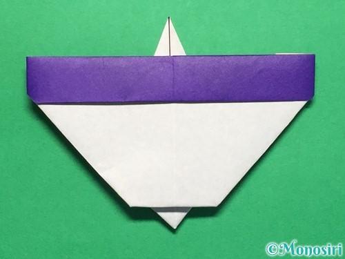 折り紙で平面のコマの作り方手順25
