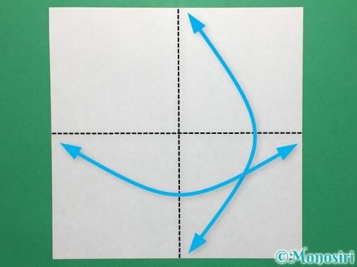 折り紙で簡単なぴょんぴょんカエルの折り方手順1