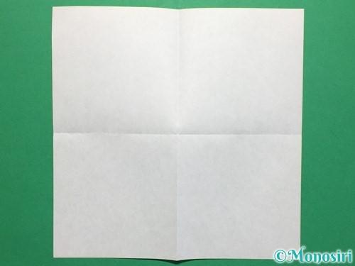 折り紙で簡単なぴょんぴょんカエルの折り方手順2