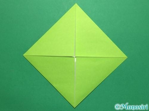折り紙で簡単なぴょんぴょんカエルの折り方手順4
