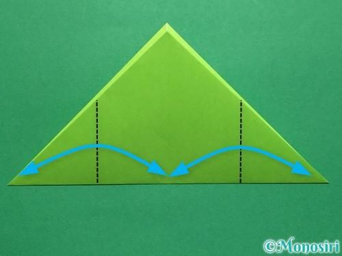 折り紙で簡単なぴょんぴょんカエルの折り方手順7