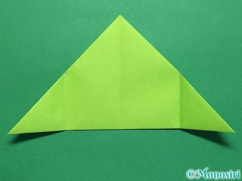 折り紙で簡単なぴょんぴょんカエルの折り方手順8