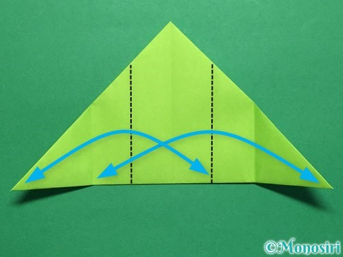 折り紙で簡単なぴょんぴょんカエルの折り方手順9