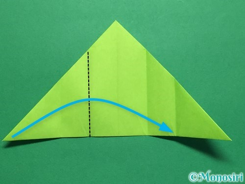 折り紙で簡単なぴょんぴょんカエルの折り方手順11