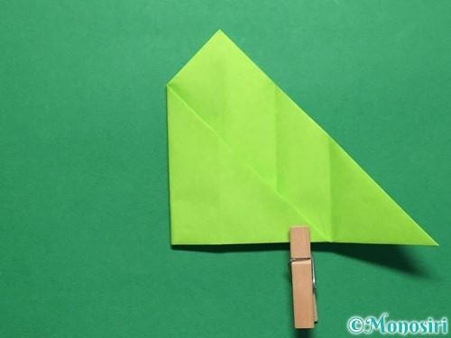 折り紙で簡単なぴょんぴょんカエルの折り方手順12