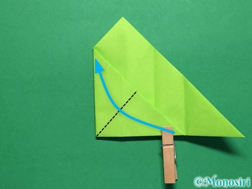 折り紙で簡単なぴょんぴょんカエルの折り方手順13