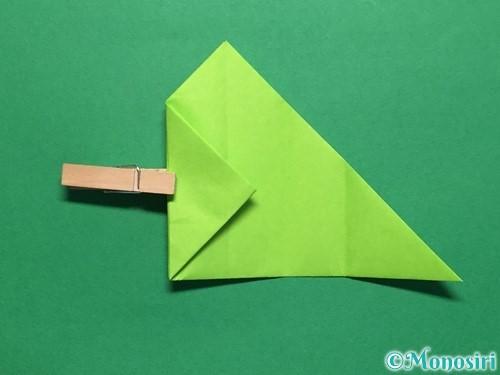 折り紙で簡単なぴょんぴょんカエルの折り方手順14