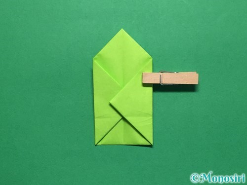折り紙で簡単なぴょんぴょんカエルの折り方手順15
