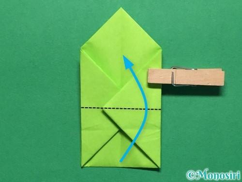 折り紙で簡単なぴょんぴょんカエルの折り方手順16