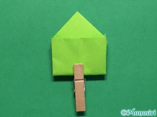 折り紙で簡単なぴょんぴょんカエルの折り方手順17
