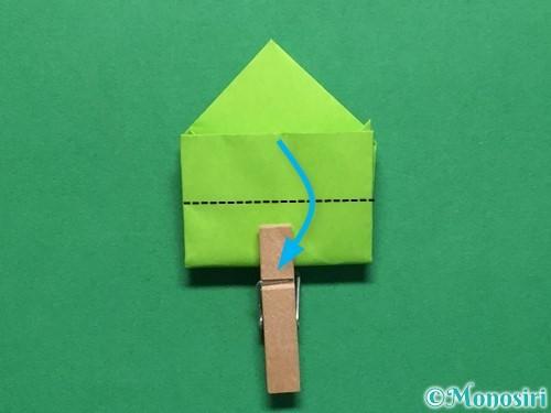 折り紙で簡単なぴょんぴょんカエルの折り方手順18