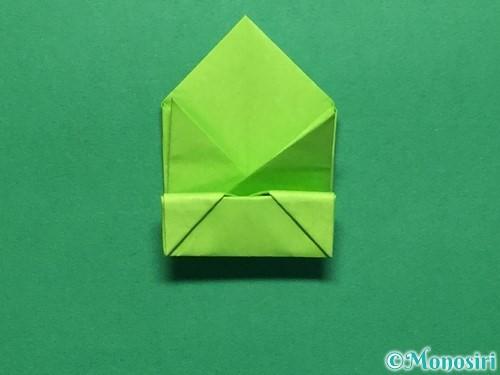 折り紙で簡単なぴょんぴょんカエルの折り方手順19