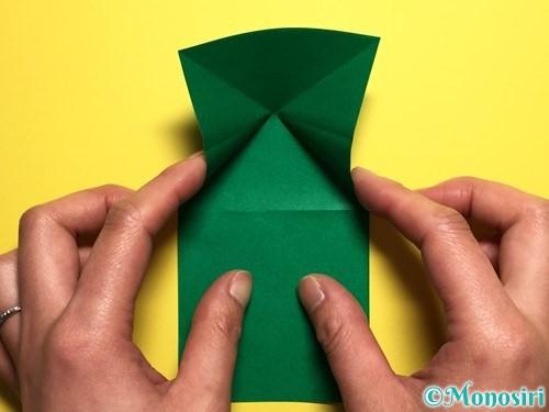 折り紙でぴょんぴょんカエルの折り方手順7