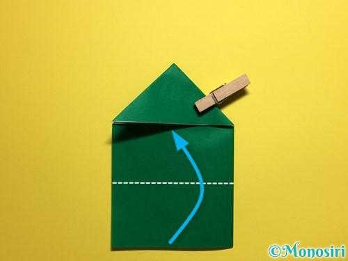 折り紙でぴょんぴょんカエルの折り方手順10