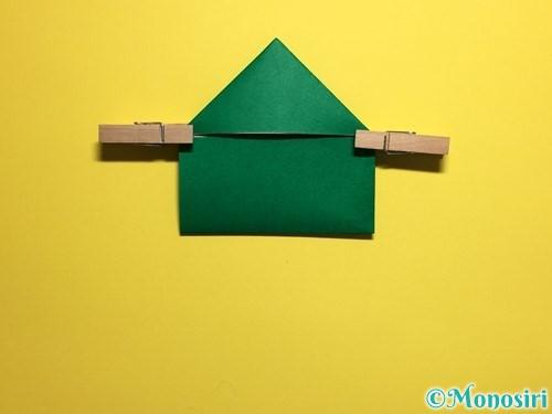 折り紙でぴょんぴょんカエルの折り方手順11