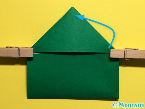 折り紙でぴょんぴょんカエルの折り方手順12