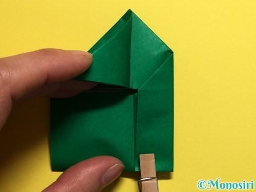折り紙でぴょんぴょんカエルの折り方手順14