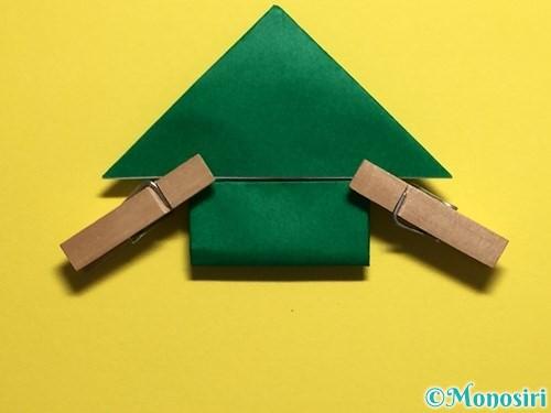 折り紙でぴょんぴょんカエルの折り方手順17