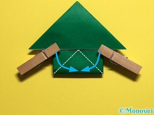 折り紙でぴょんぴょんカエルの折り方手順18