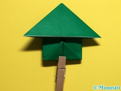折り紙でぴょんぴょんカエルの折り方手順19