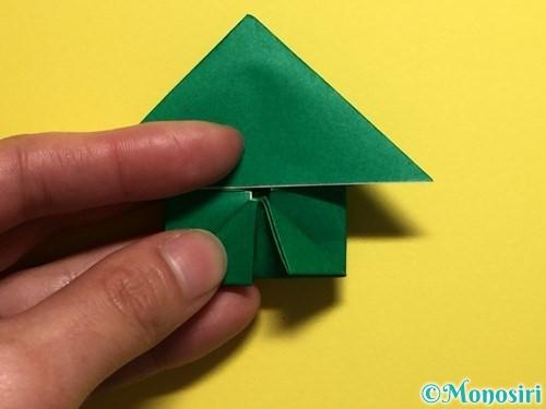 折り紙でぴょんぴょんカエルの折り方手順20