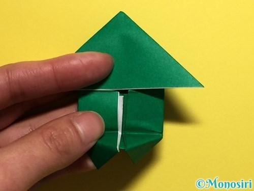 折り紙でぴょんぴょんカエルの折り方手順21