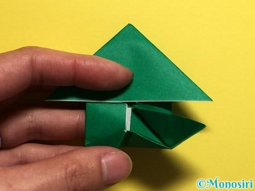 折り紙でぴょんぴょんカエルの折り方手順22