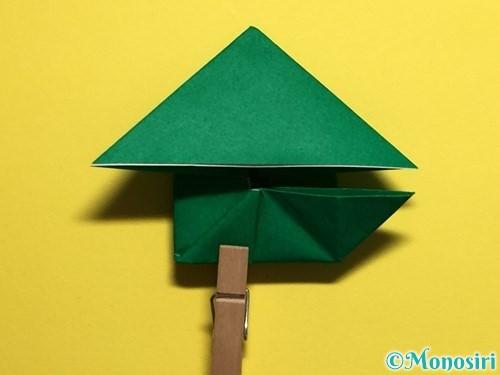 折り紙でぴょんぴょんカエルの折り方手順23
