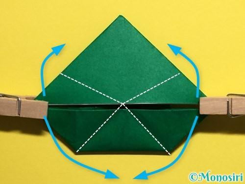 折り紙でぴょんぴょんカエルの折り方手順25