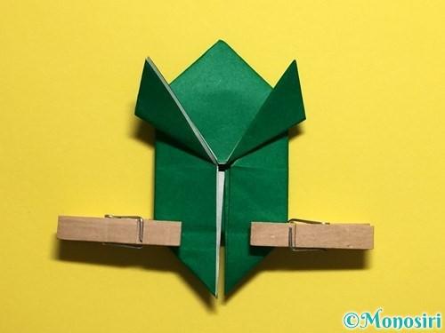 折り紙でぴょんぴょんカエルの折り方手順26