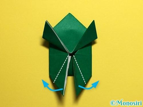 折り紙でぴょんぴょんカエルの折り方手順27