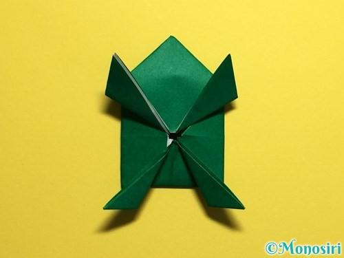 折り紙でぴょんぴょんカエルの折り方手順28