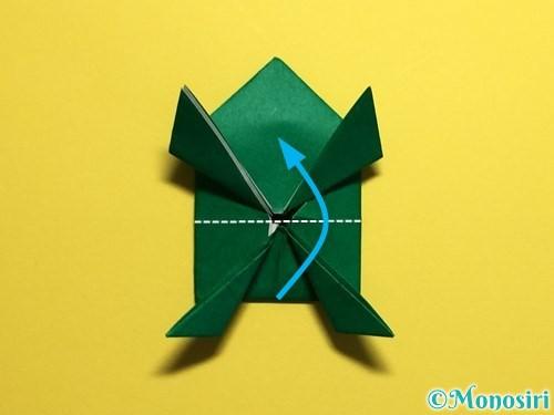 折り紙でぴょんぴょんカエルの折り方手順29