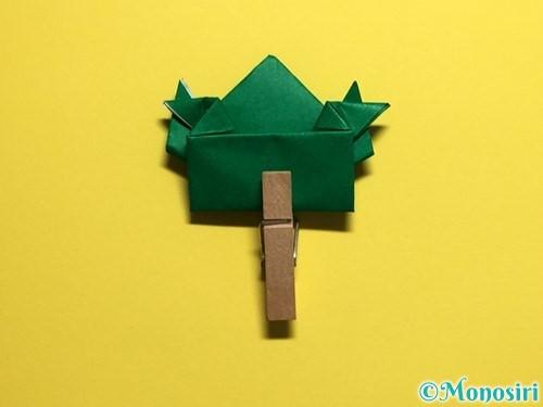 折り紙でぴょんぴょんカエルの折り方手順30