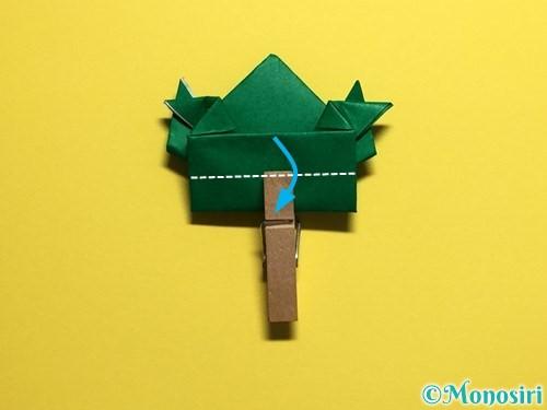 折り紙でぴょんぴょんカエルの折り方手順31