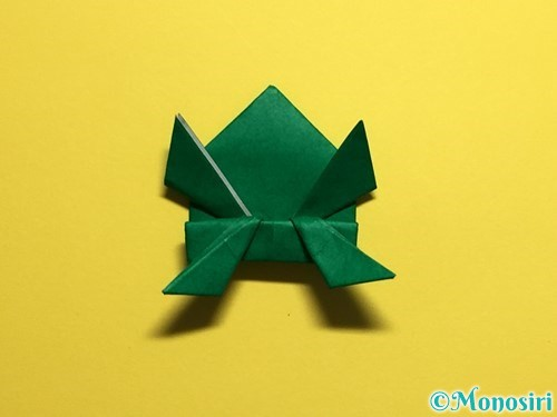 折り紙でぴょんぴょんカエルの折り方手順32