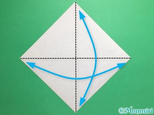 折り紙でトントン相撲の折り方手順1
