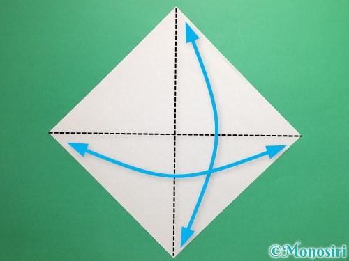 折り紙でパクパクの折り方手順1