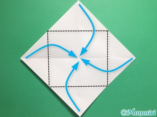 折り紙でパクパクの折り方手順3