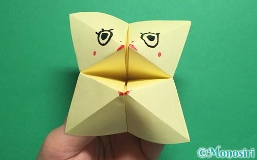 折り紙で折ったパクパク