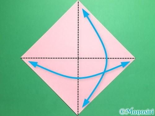 折り紙で羽ばたく鳥の折り方手順1