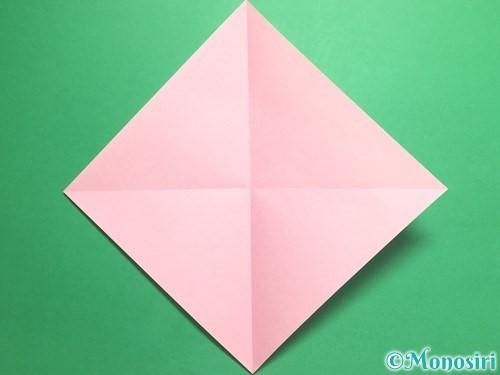 折り紙で羽ばたく鳥の折り方手順2
