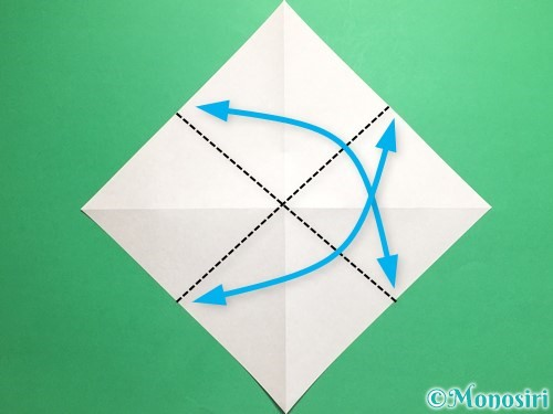 折り紙で羽ばたく鳥の折り方手順4