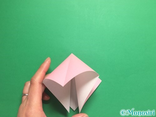 折り紙で羽ばたく鳥の折り方手順7