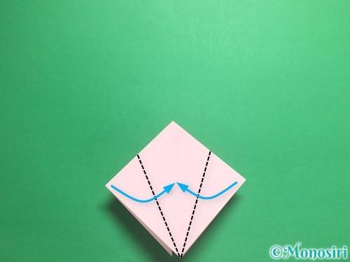 折り紙で羽ばたく鳥の折り方手順9
